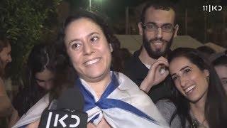 טירוף הזכייה באירוויזיון: המונים יצאו לחגוג ברחובות
