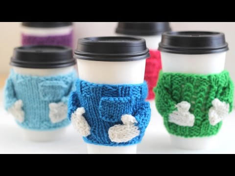 How To Knit Coffee Cozy Sweaters For The Christmas Holidays Youtube