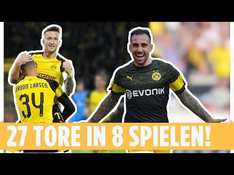 Alle 27 BVB-Tore aus 8 Spieltagen