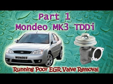Part 1 Ford Mondeo Mk3 Tddi Running Rough Diagnosing Causes EGR Valve Removal