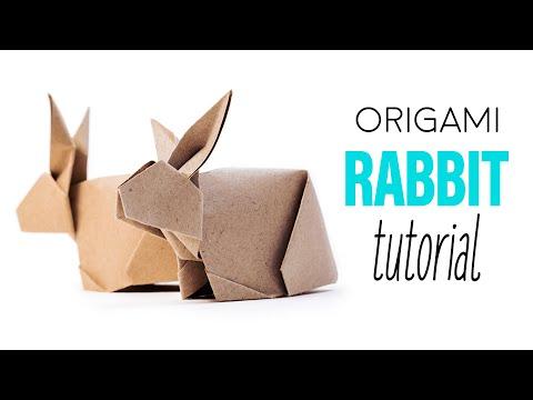 Origami Bunny Rabbit Tutorial V2 - DIY - Paper Kawaii