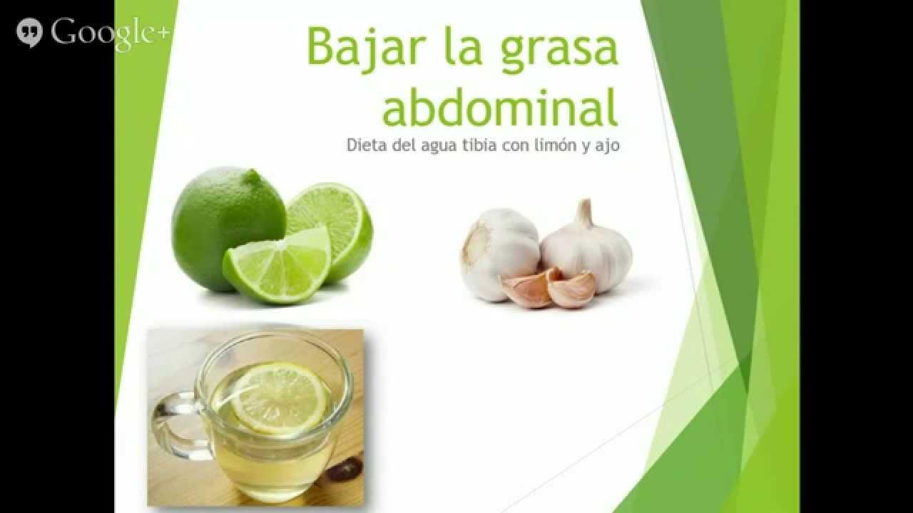 Como Bajar la grasa abdominal con Infusión de ajo y limón