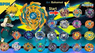 【Arc Bahamut VS ALL Season2】 marathon Beyblade Burst DB 베이블레이드 버스트 갓 아크 바하무트 VS 시즌2 마라톤 ベイブレードバーストDB
