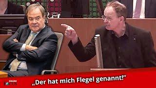 Schrei-Duell im NRW-Landtag: Aufgebrachter Laschet beschimpft SPD-Mann