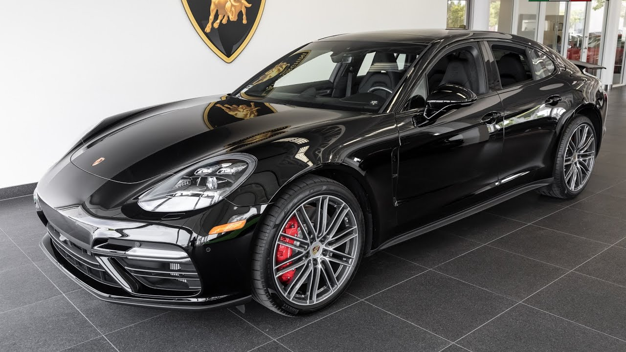 Porsche Newport Beach >> 2017 Black Porsche Panamera Turbo - YouTube