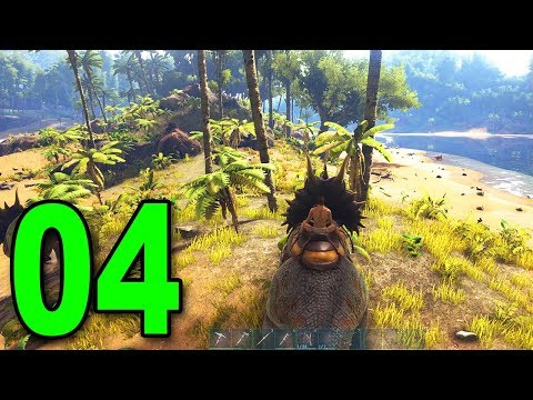 ARK: Survival Evolved - Part 4 - RIDING A TRICERATOPS