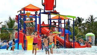 Safari WATER PARK with Slides and Animals, Children Songs