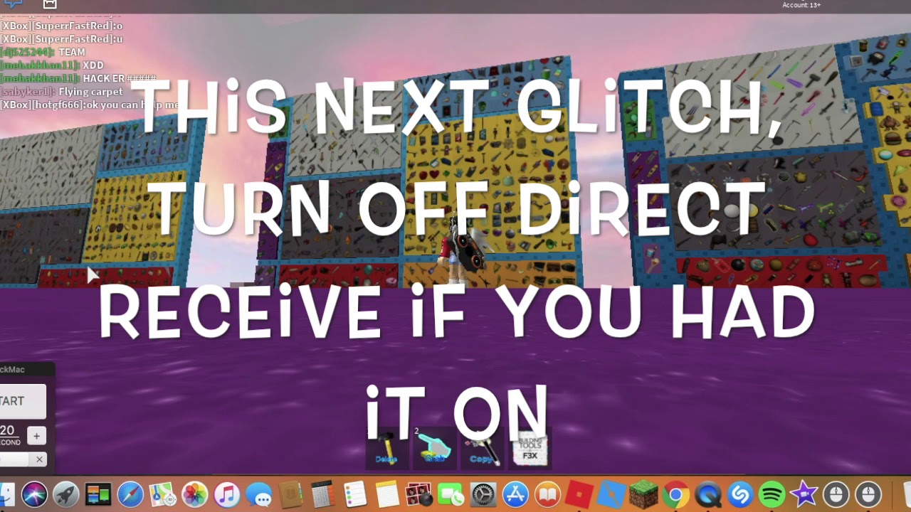 Roblox Glitches In Lets Party Infinite - lets party gear testing editionread the desc roblox
