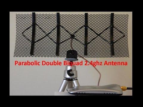 Parabolic Double Biquad 2 4ghz - YouTube