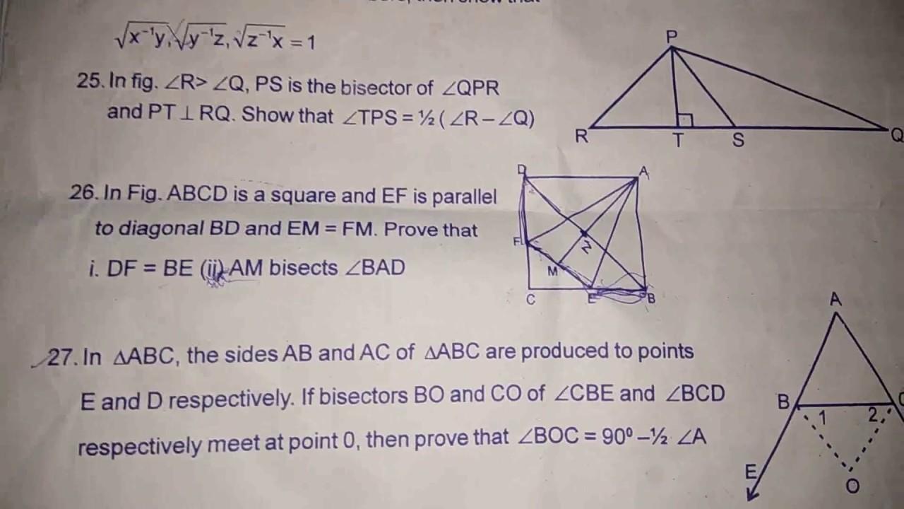 Maths Important Question class 9th SA1st 2018-2019||Part2||