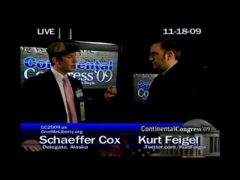 Political Prisoner of Obama Admin Schaeffer Cox Speaking At The Continental Congress 2009