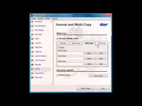 TSP100 futurePRNT - Electronic Journal Settings
