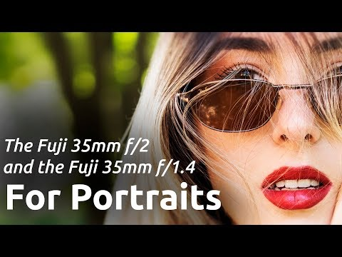 FUJI 35MM F2 VS 35MM F1.4 PORTRAIT PHOTOGRAPHY REVIEW. CHECKING BOKEH DEPTH OF FIELD AND SHARPNESS