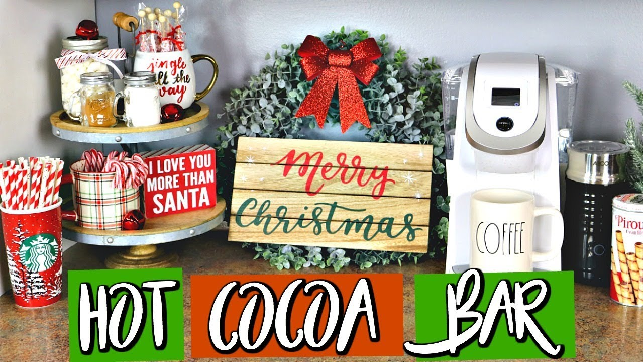 Utube 2021 Christmas Coffee Cicoa Bar Diy Hot Cocoa Coffee Bar Affordable Belinda Selene Youtube