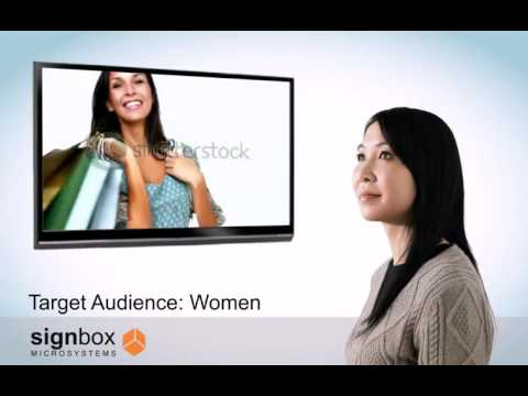 Digital Signage Audience Analytics and Facial Detection (women)