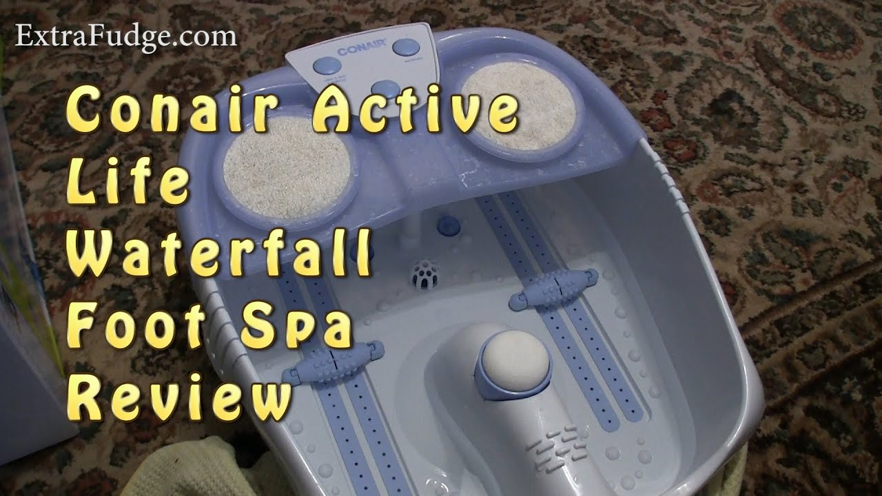Conair Active Life Waterfall Foot Spa Review - YouTube