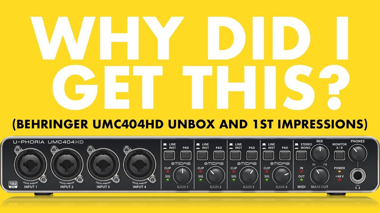 Behringer U-phoria UMC404HD Unbox and 1st Impressions   424recording com