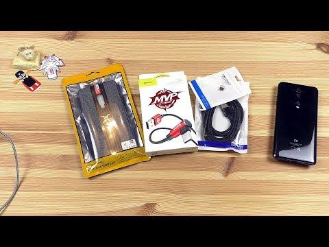 Немного посылок из Китая // Магнитный кабель type-c, кабель Baseus (тест) и чехол  для Xiaomi Mi 9T