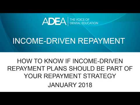 Income-Driven Repayment (January 2018)