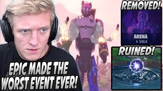 Tfue Gets MAD At Epic For The ROBOT vs MONSTER Event & Explains Why It RUINED Fortnite For Him...