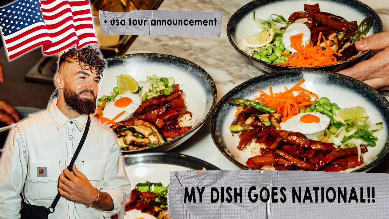 MY FOOD GOES TO OVER 140 RESTAURANTS. USA tour announcement