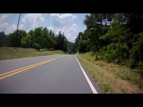 Riding into Winston-Salem, NC on Baux Mountain Road