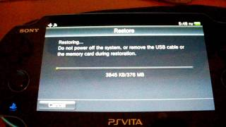 How to restore backup with ARK2/VHBL - PS Vita 3.63 - 3.61 (for QCMA)