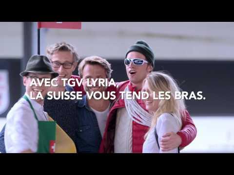 SNCF – AVEC TGV LYRIA, LA SUISSE VOUS TEND LES BRAS.