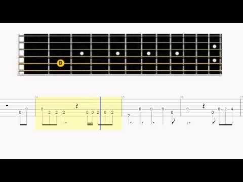 Guitar tab - Say Something - Big Fretboard - Easy Guitar