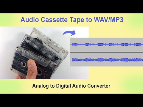 How to Convert Cassette Tape Audio to WAV/MP3 Digital Format
