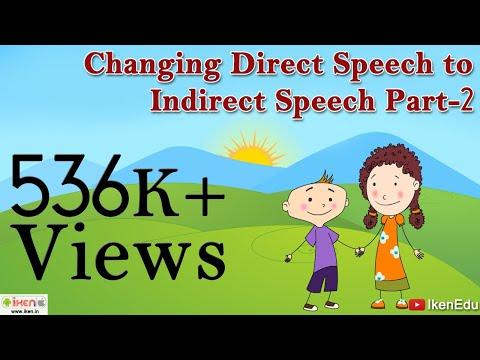 Changing Direct Speech to Indirect Speech - Part 2