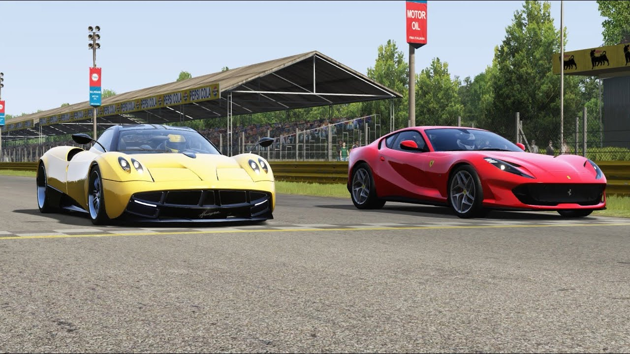 Pagani Huayra vs Ferrari 812 Superfast at Monza Full ...