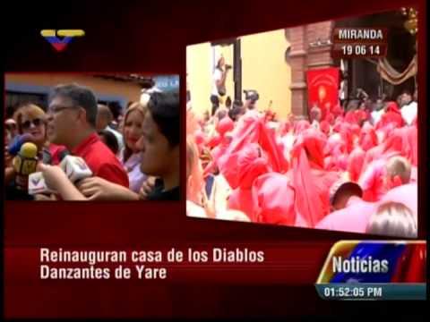 Reinauguran casa de los Diablos Danzantes de Yare: palabras de Elías Jaua