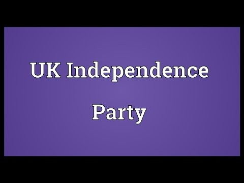 UK Independence Party Meaning