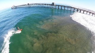 Big Wednesday - Summer Swell From Hurricane Marie Hits Imperial Beach - Drone Surf Footage