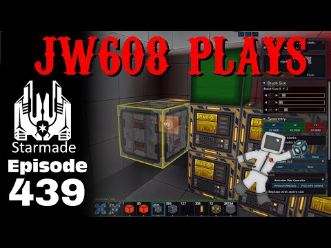 JW608 Plays StarMade ep 439 Factory Storage and Paint Machine