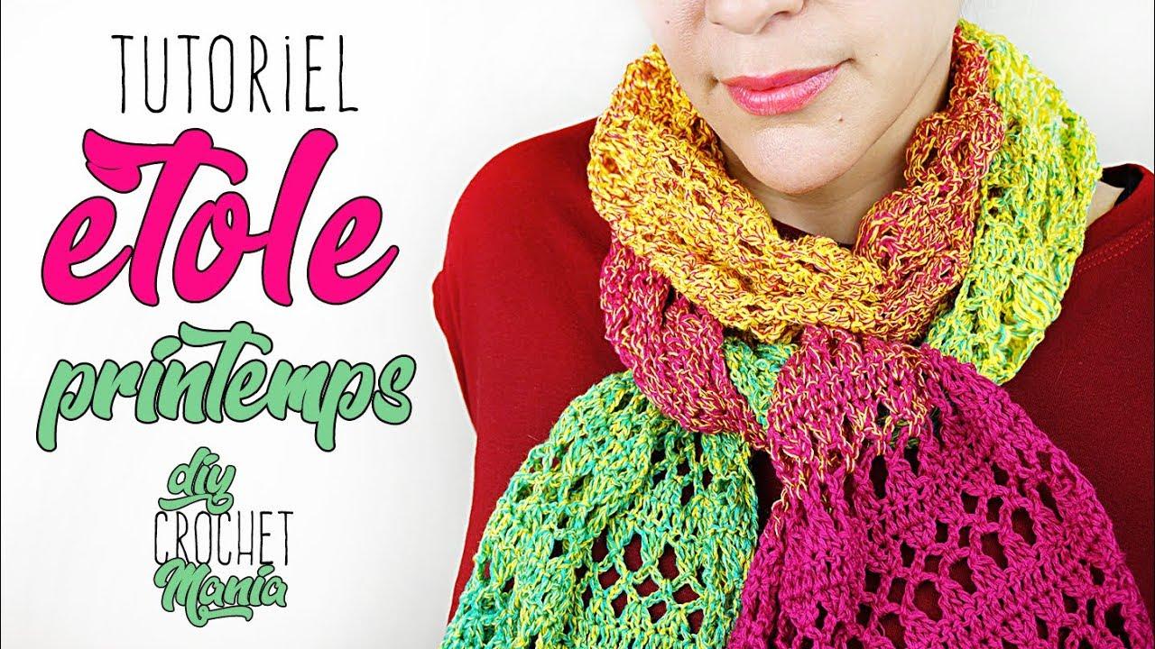 Tuto Crochet Etole Facile Printemps Echarpe En Coton