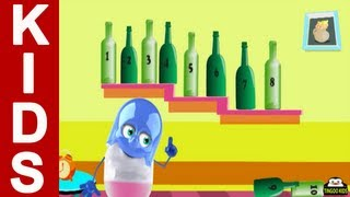 Ten Green Bottles | Learn To Count With Nursery Rhymes With Lyrics (English Language)