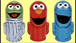 Sesame Street Coin Bank Tin Containers with Elmo, Cookie Monster & Oscar the Grouch