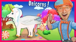 This is The Unicorn Song by Blippi. A beautiful Blippi song about S...
