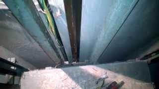 Лифт без стен, этажные переключатели в действии