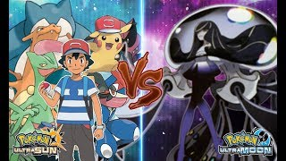 Pokemon Ultra Sun and Ultra Moon Ash Vs Lusamine Mother Beast
