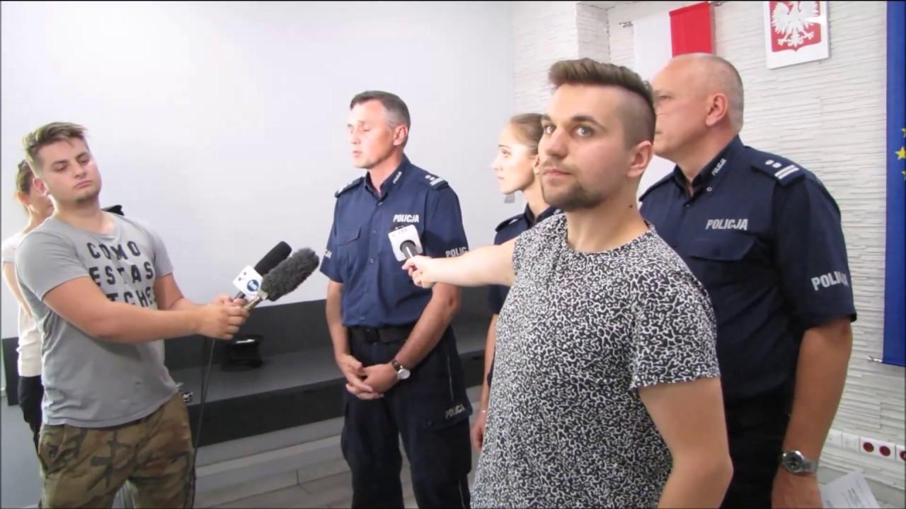 Konferencja prasowa w Komendzie Policji w Kole - 18.08.2017 r.