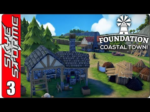 ►NEW TOOLS PRODUCTION CHAIN!◀ Foundation Coastal Town Ep 3