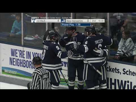 UNH Men's Hockey vs Yale Highlights (1-5-19)