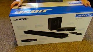 Bose Cinemate 130 soundbar unboxing