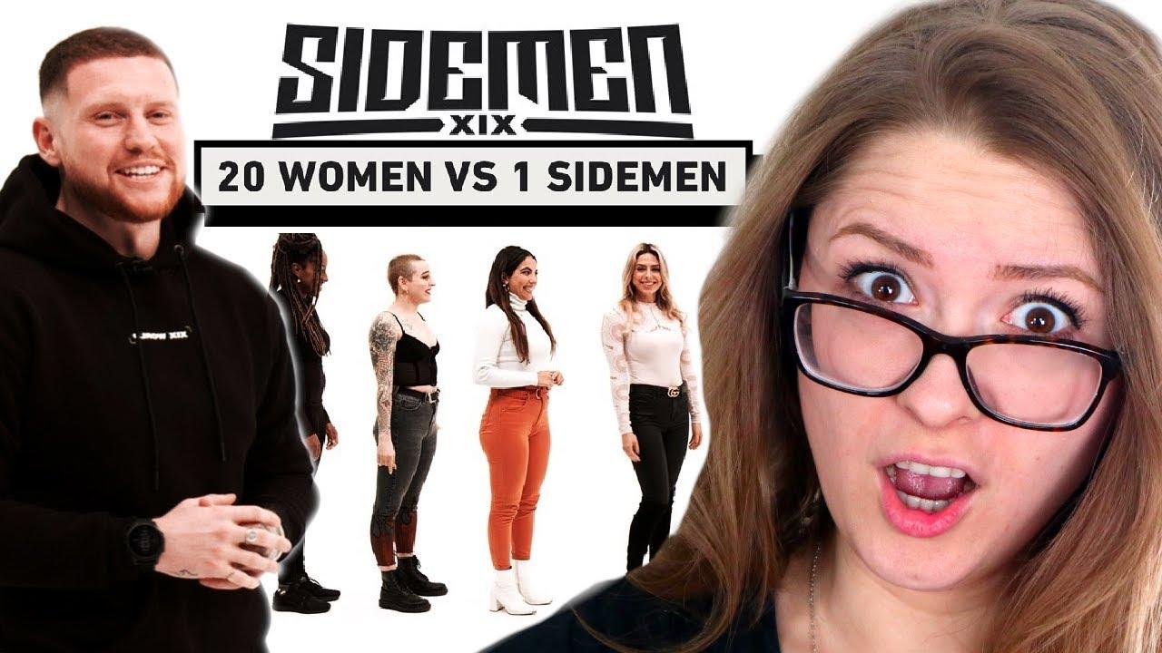 20 WOMEN VS 1 SIDEMEN: ETHAN EDITION REACTION