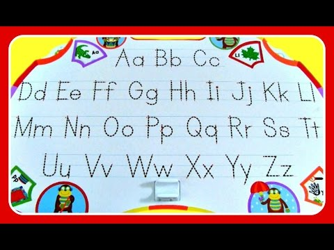 Learn To Write ABC Alphabet Uppercase & Lowercase Letters!  ABC Video For Preschool Kids, Toddlers,