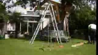 Building Treehouse With Rope Bridge (flv) ...
