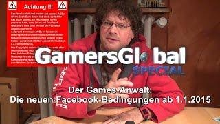 Neue Facebook-Regeln ab 30.1.2015: Games-Anwalt und der Datenschutz